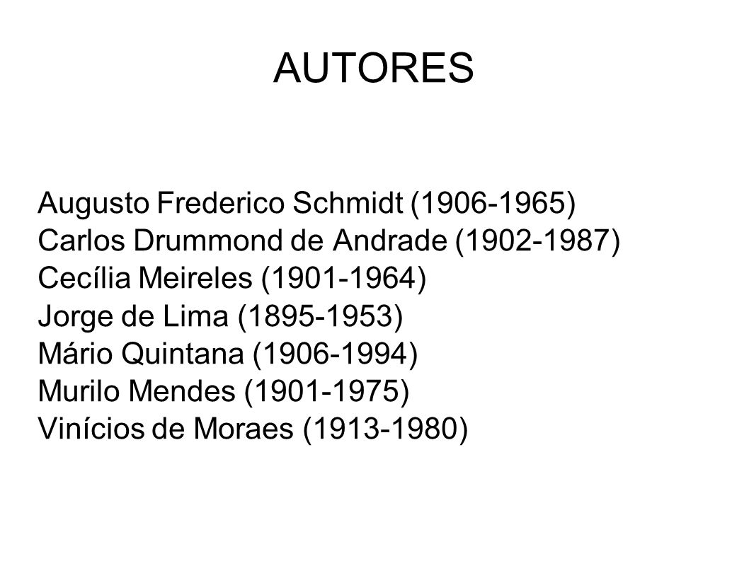 AUTORES Augusto Frederico Schmidt (1906-1965)