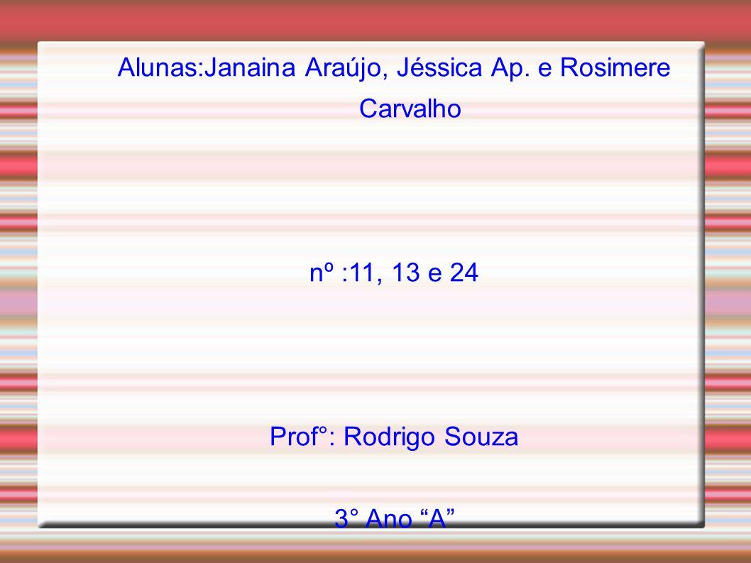 Alunas:Janaina Araújo, Jéssica Ap. e Rosimere Carvalho