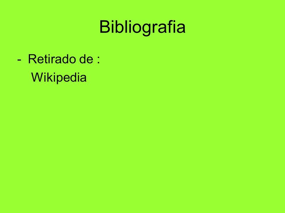 Bibliografia Retirado de : Wikipedia