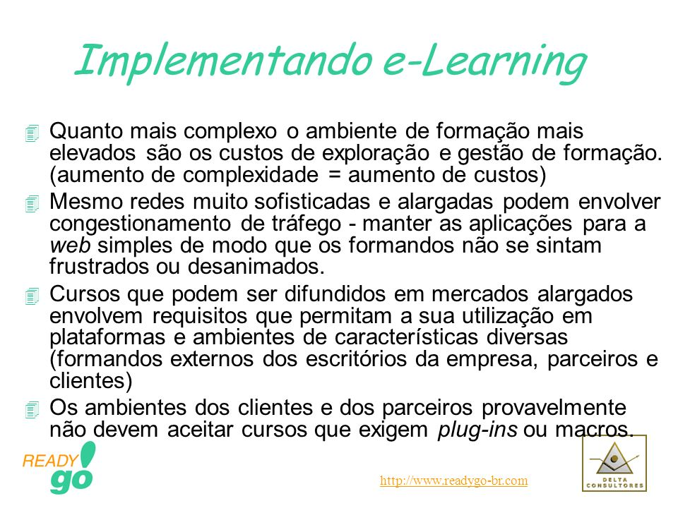 Implementando e-Learning