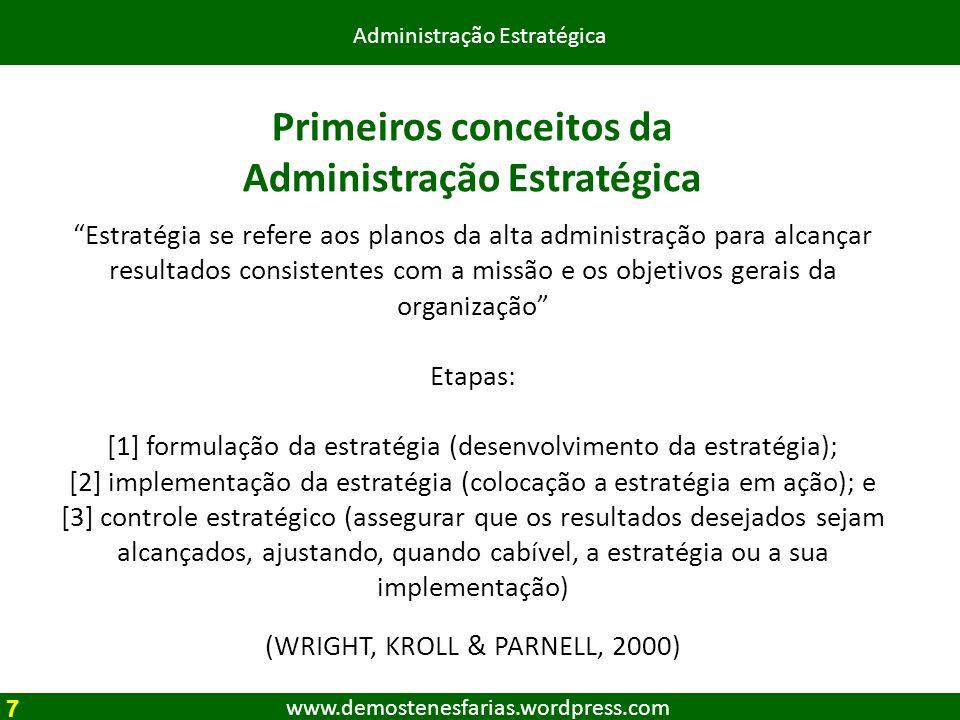 Primeiros conceitos da Administração Estratégica