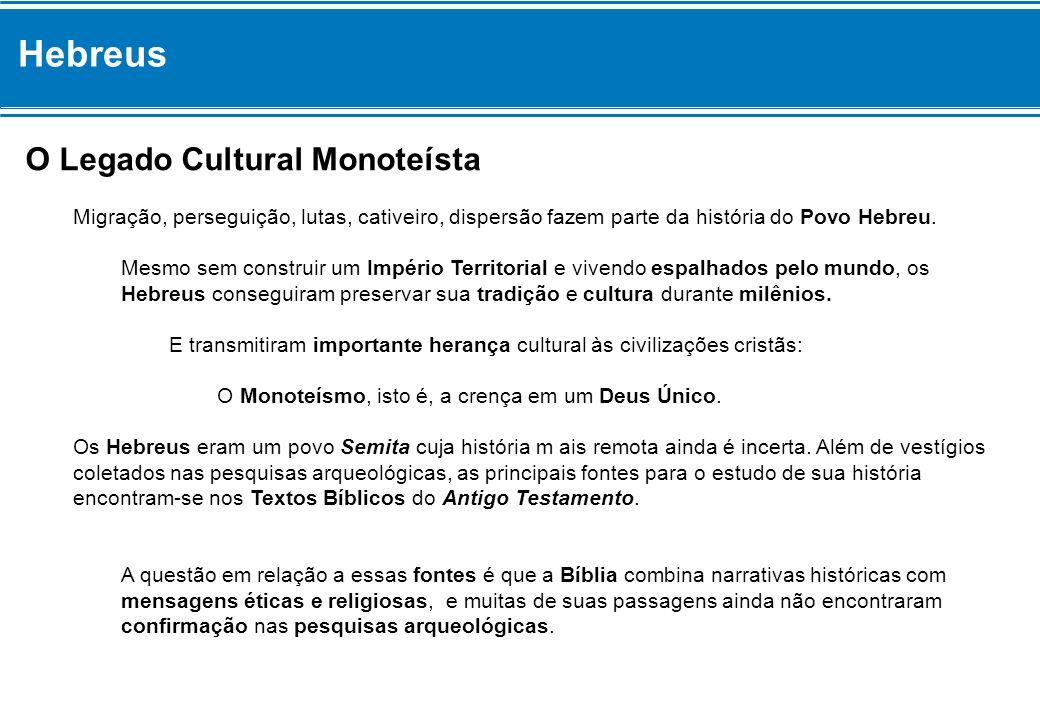 Hebreus O Legado Cultural Monoteísta