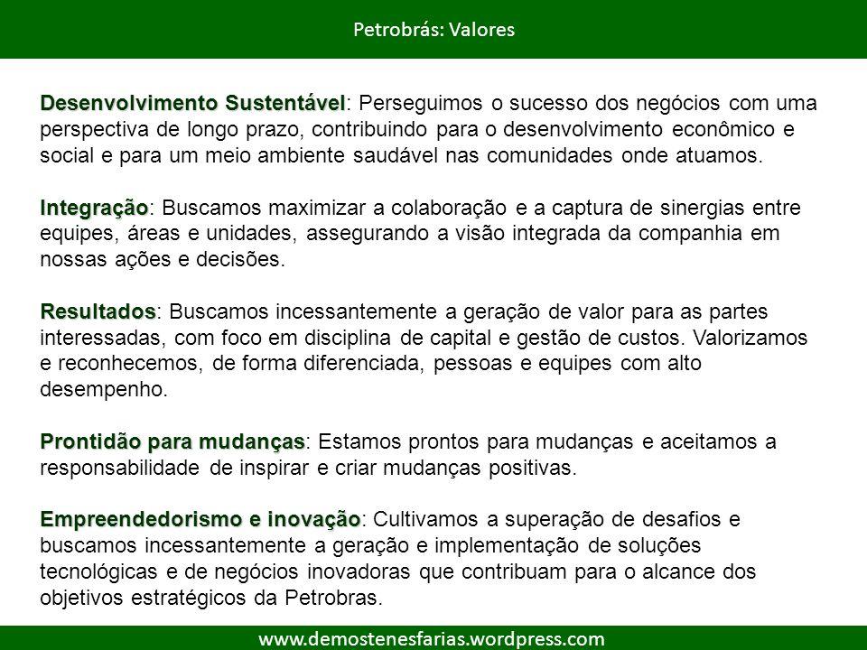 Petrobrás: Valores