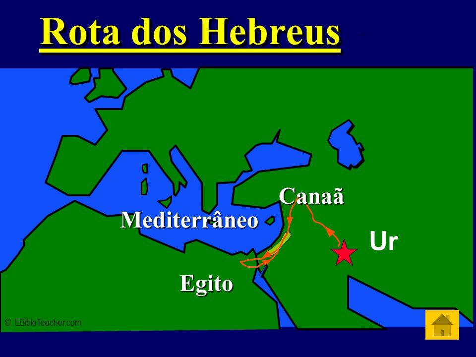 Rota dos Hebreus Ur Canaã Mediterrâneo Egito © EBibleTeacher.com