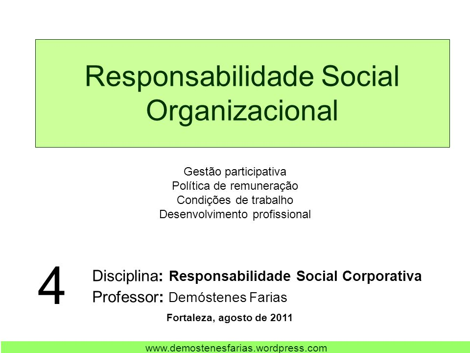 Responsabilidade Social Organizacional