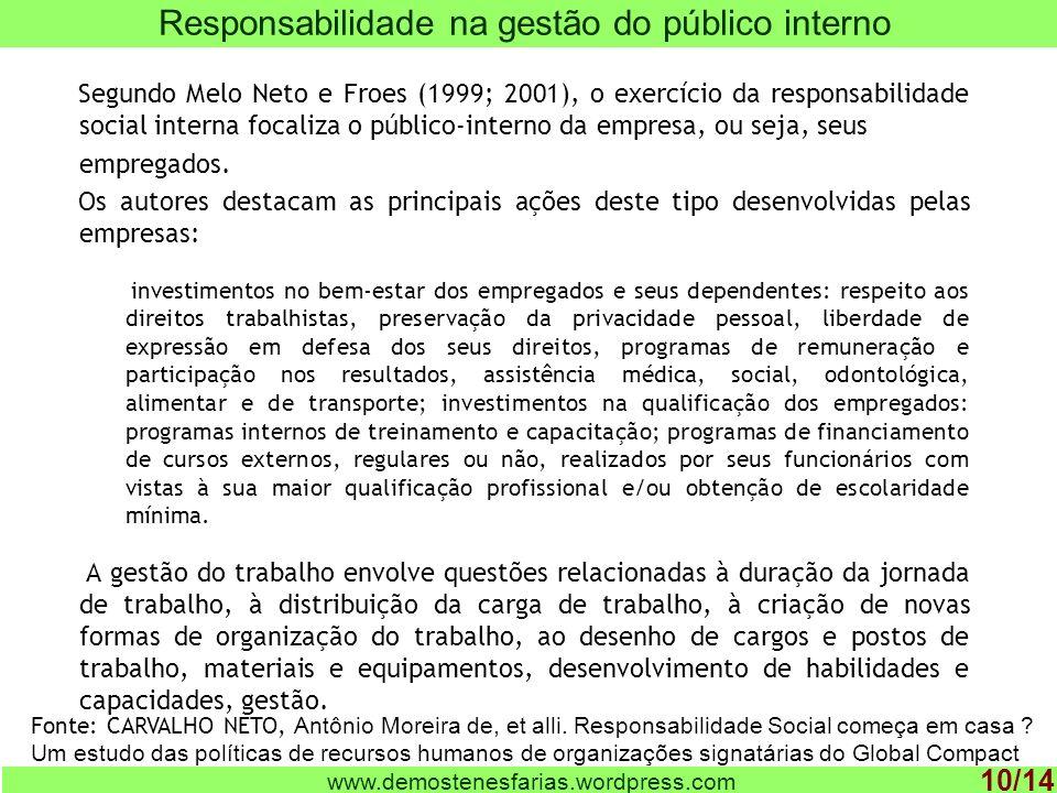 Responsabilidade na gestão do público interno
