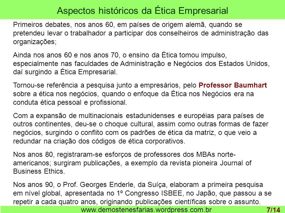 Aspectos históricos da Ética Empresarial