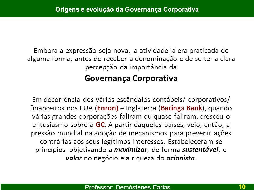 Origens e evolução da Governança Corporativa Governança Corporativa