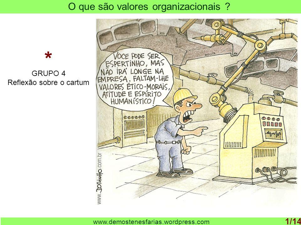 * O que são valores organizacionais 1/14 GRUPO 4