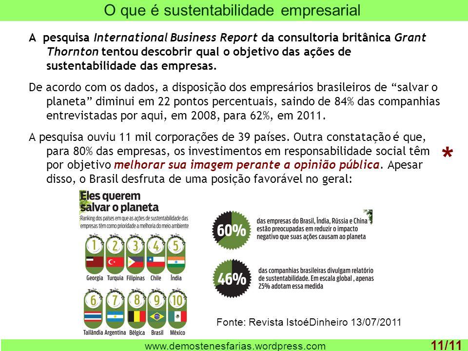 O que é sustentabilidade empresarial