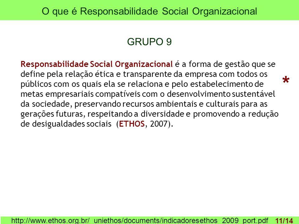 O que é Responsabilidade Social Organizacional