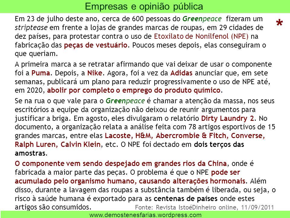Empresas e opinião pública