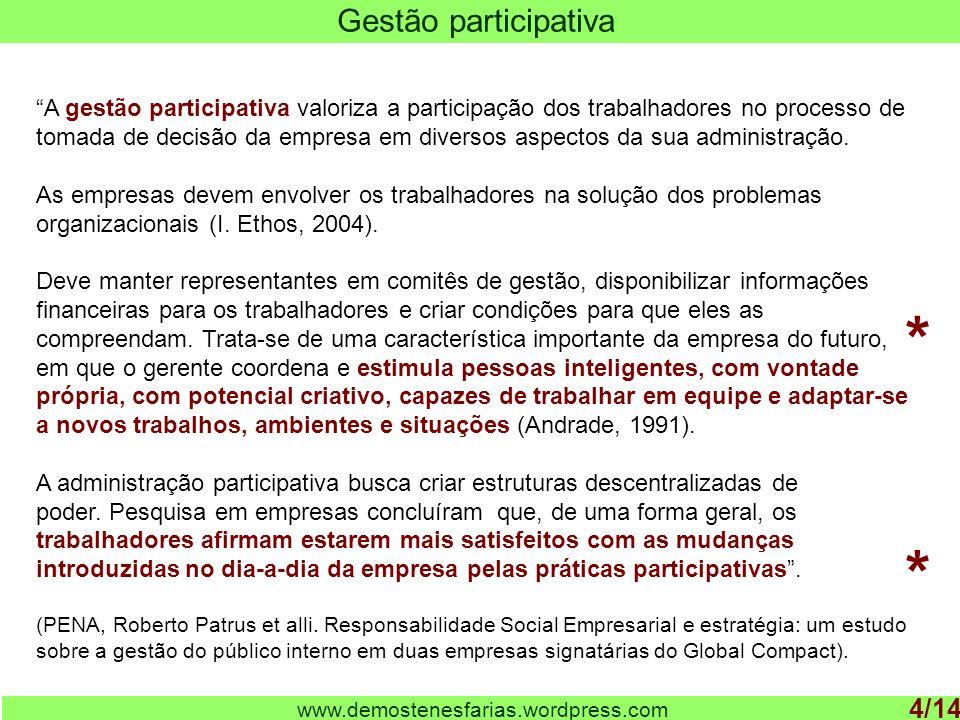 * * Gestão participativa 4/14