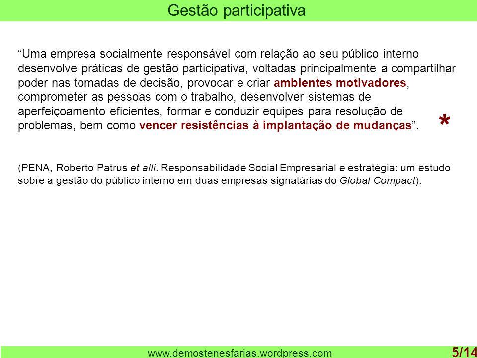 * Gestão participativa 5/14