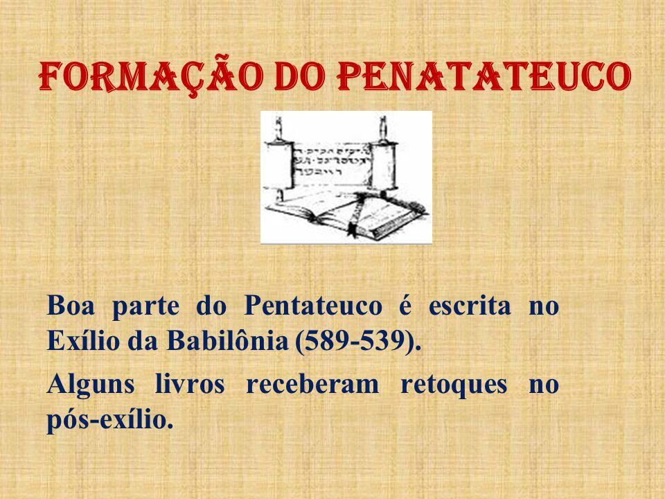 FORMAÇÃO DO PENATATEUCO