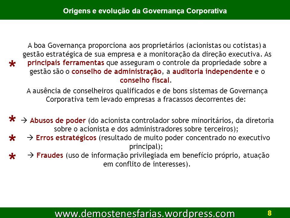 Origens e evolução da Governança Corporativa