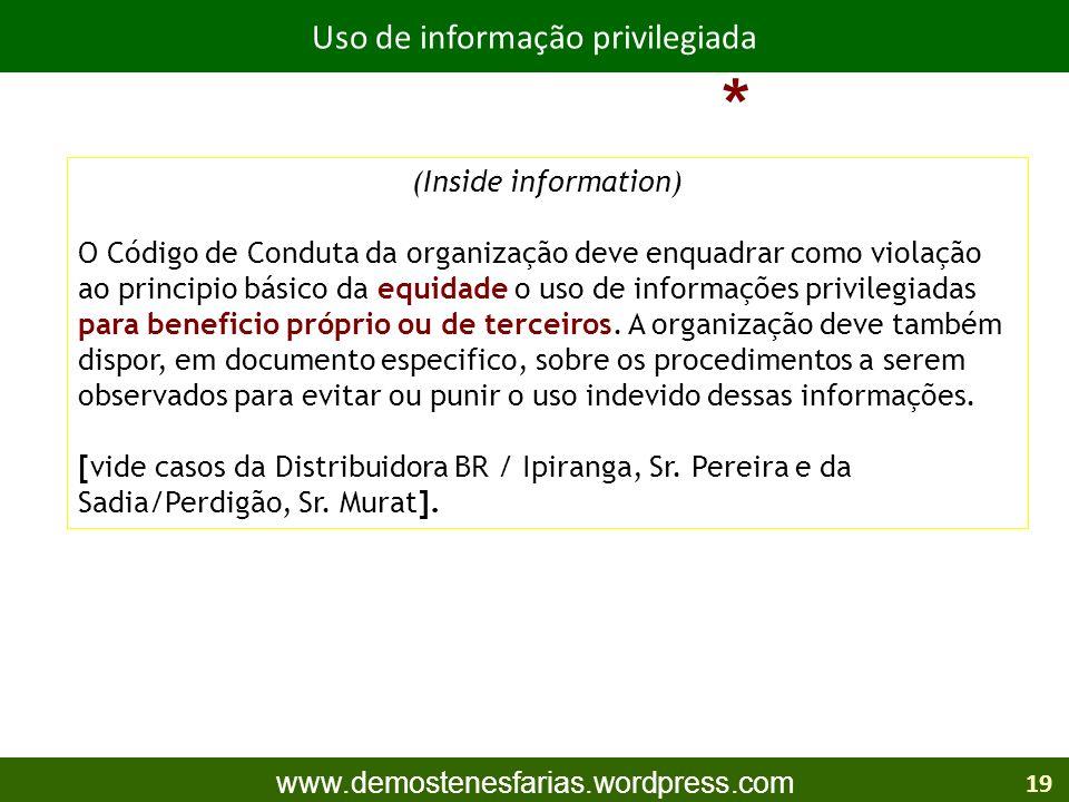 Uso de informação privilegiada