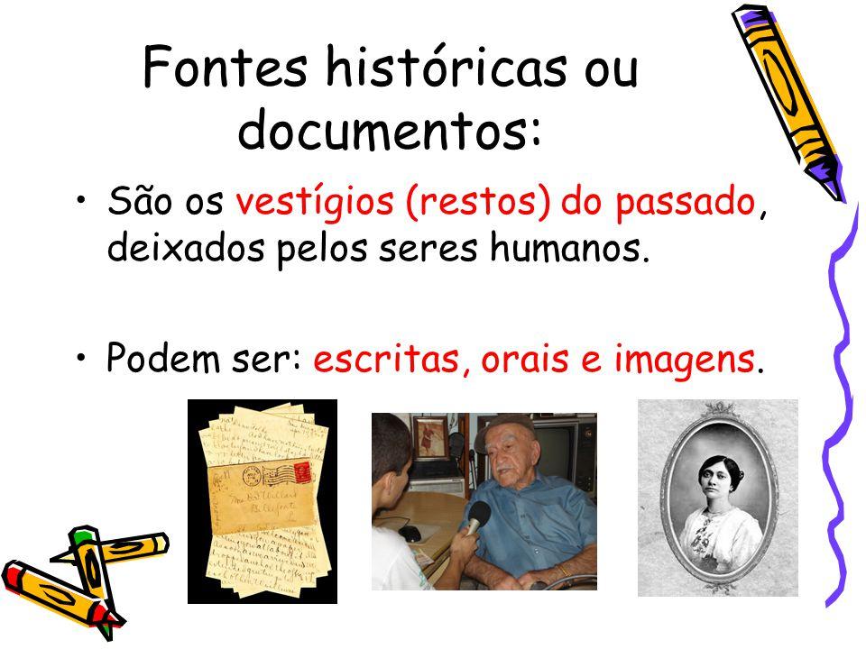 Fontes históricas ou documentos: