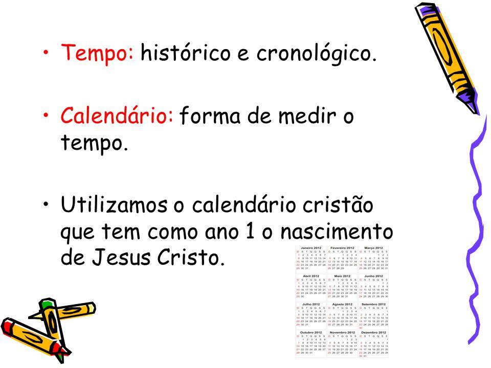 Tempo: histórico e cronológico.