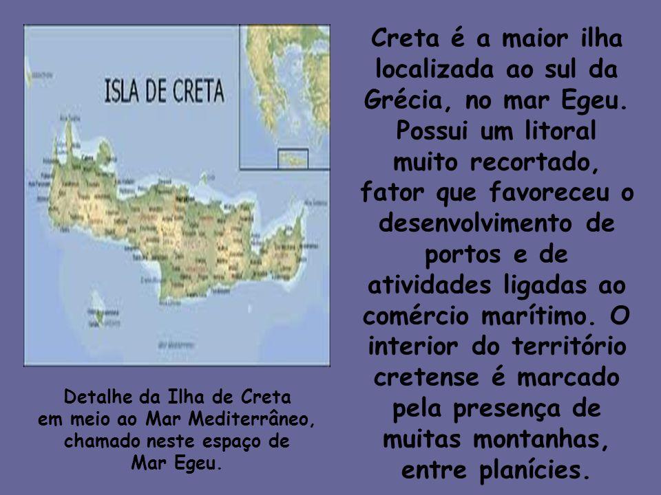 Creta é a maior ilha localizada ao sul da Grécia, no mar Egeu