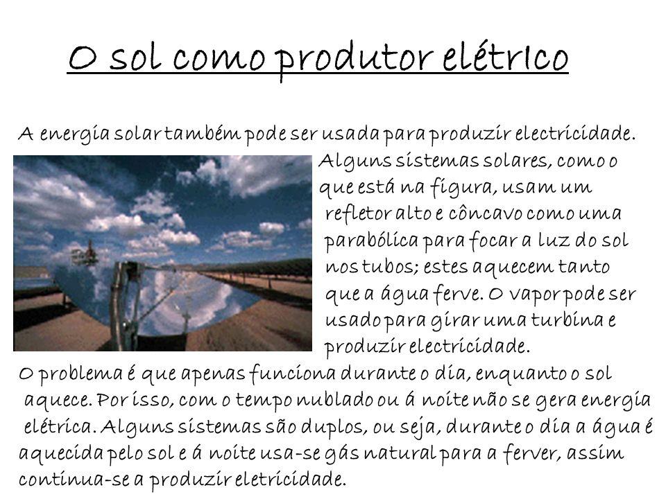 O sol como produtor elétrIco