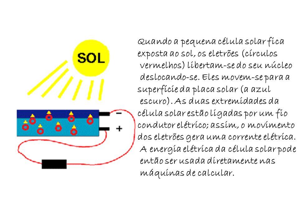 Quando a pequena célula solar fica