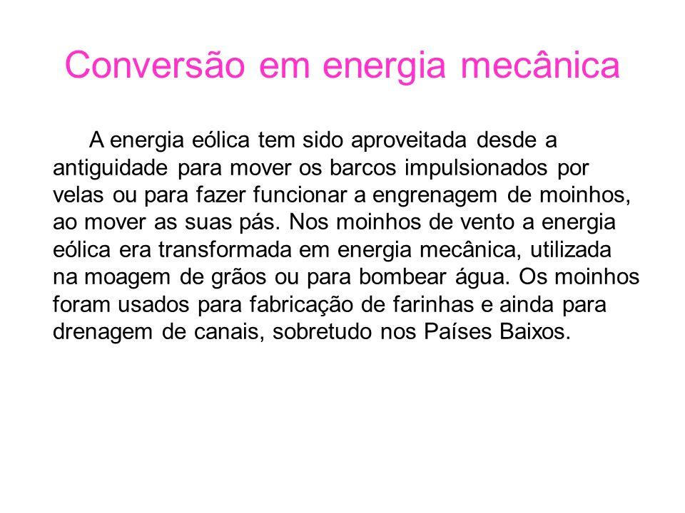 Conversão em energia mecânica