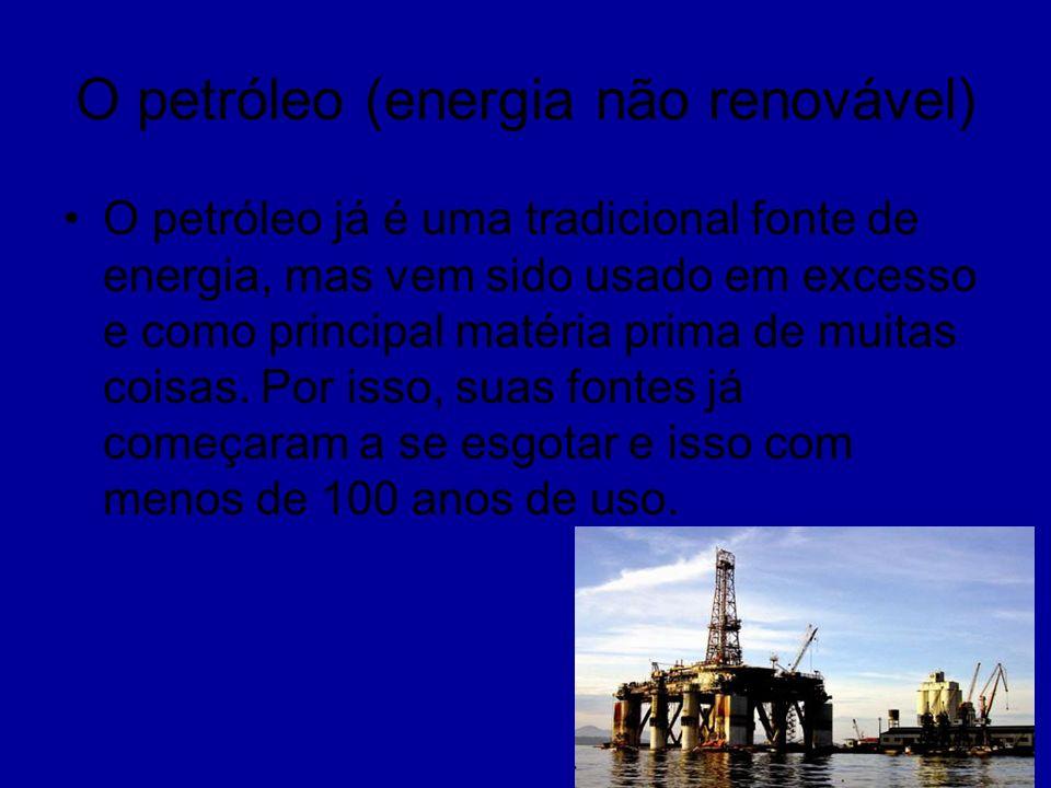 O petróleo (energia não renovável)