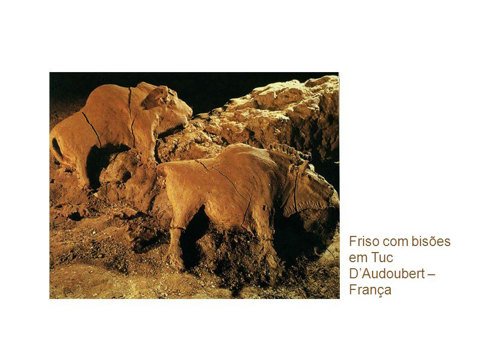 Friso com bisões em Tuc D'Audoubert – França
