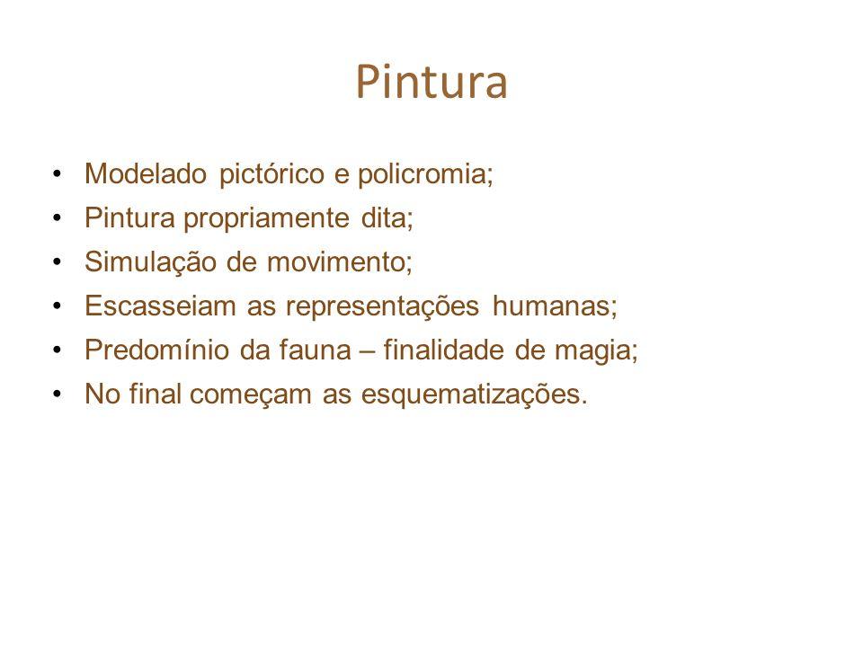 Pintura Modelado pictórico e policromia; Pintura propriamente dita;