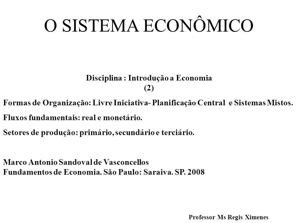 Disciplina : Introdução a Economia (2) Professor Ms Regis Ximenes