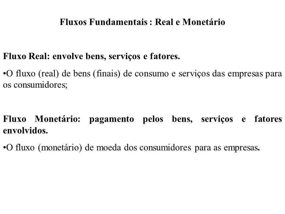 Fluxos Fundamentais : Real e Monetário