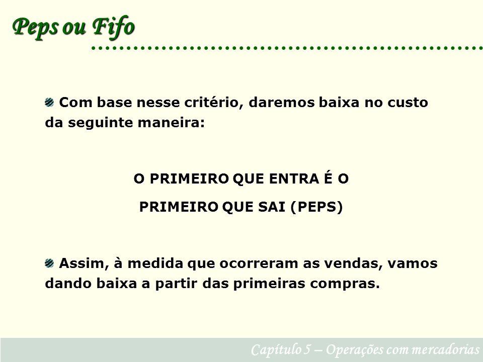 PRIMEIRO QUE SAI (PEPS)