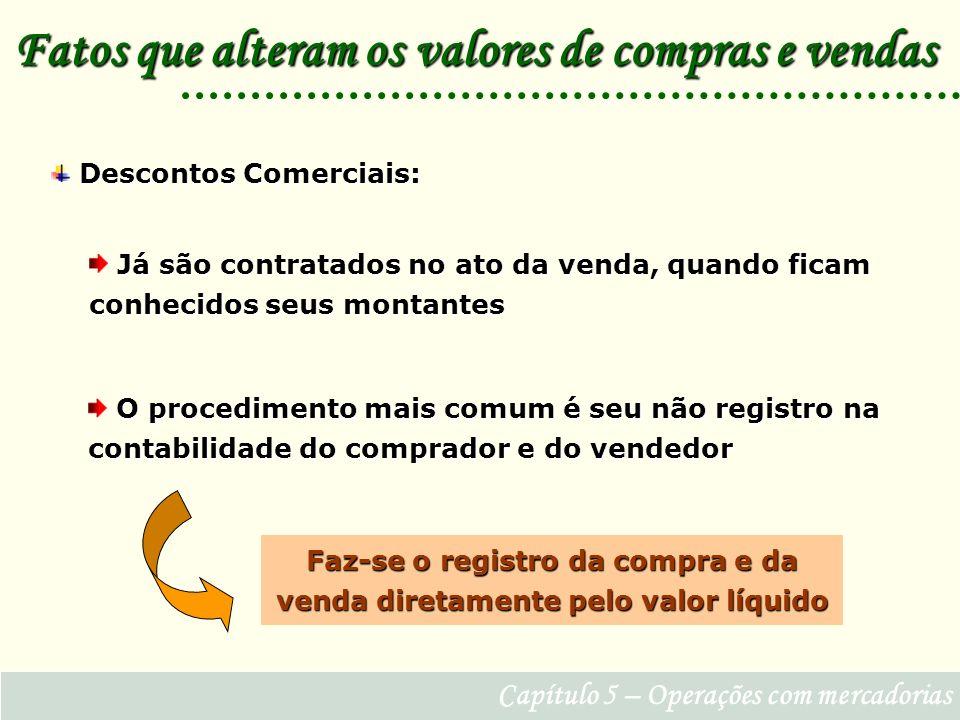 Faz-se o registro da compra e da venda diretamente pelo valor líquido