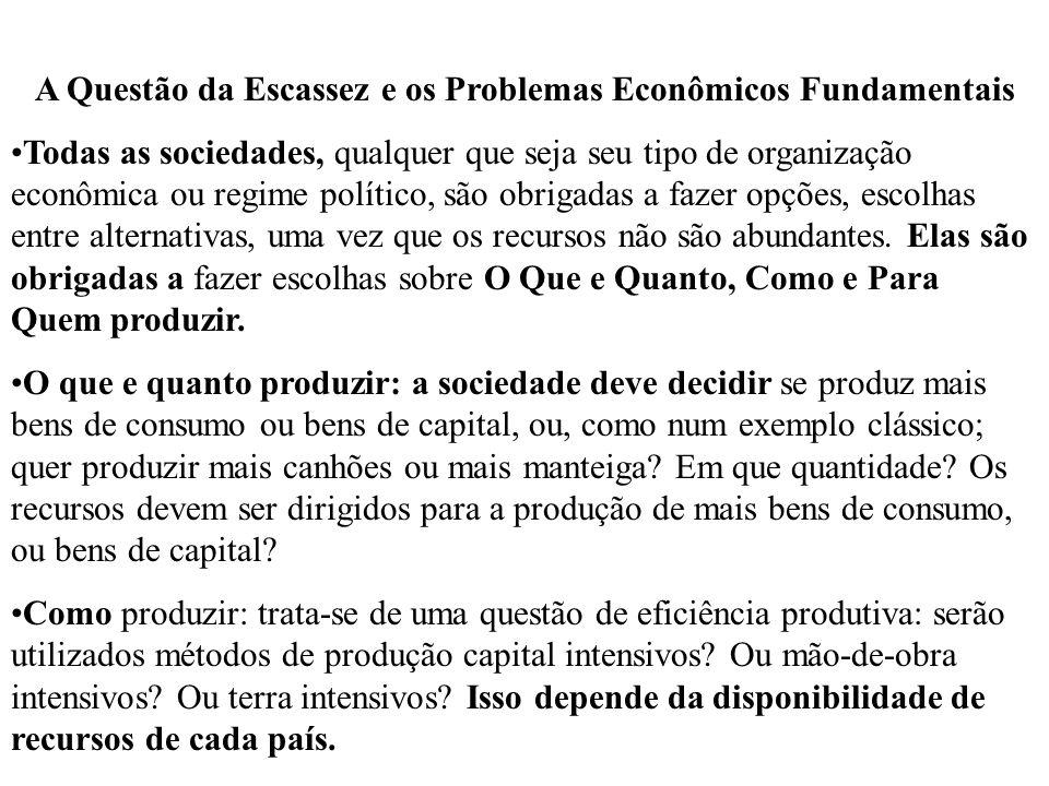 A Questão da Escassez e os Problemas Econômicos Fundamentais