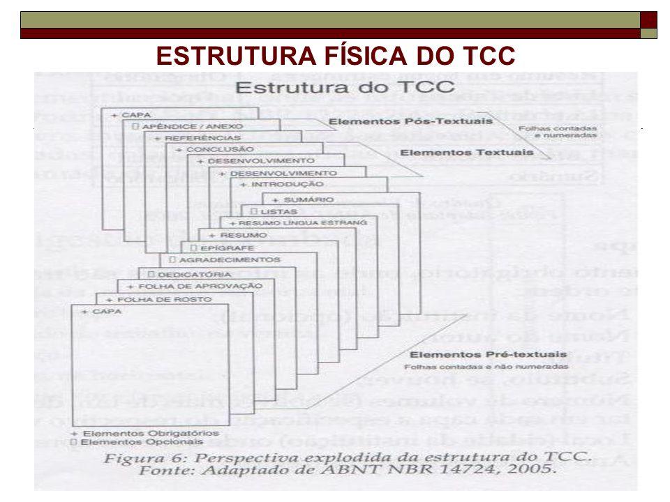 ESTRUTURA FÍSICA DO TCC