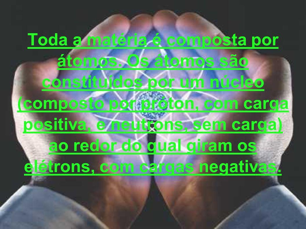 Toda a matéria é composta por átomos