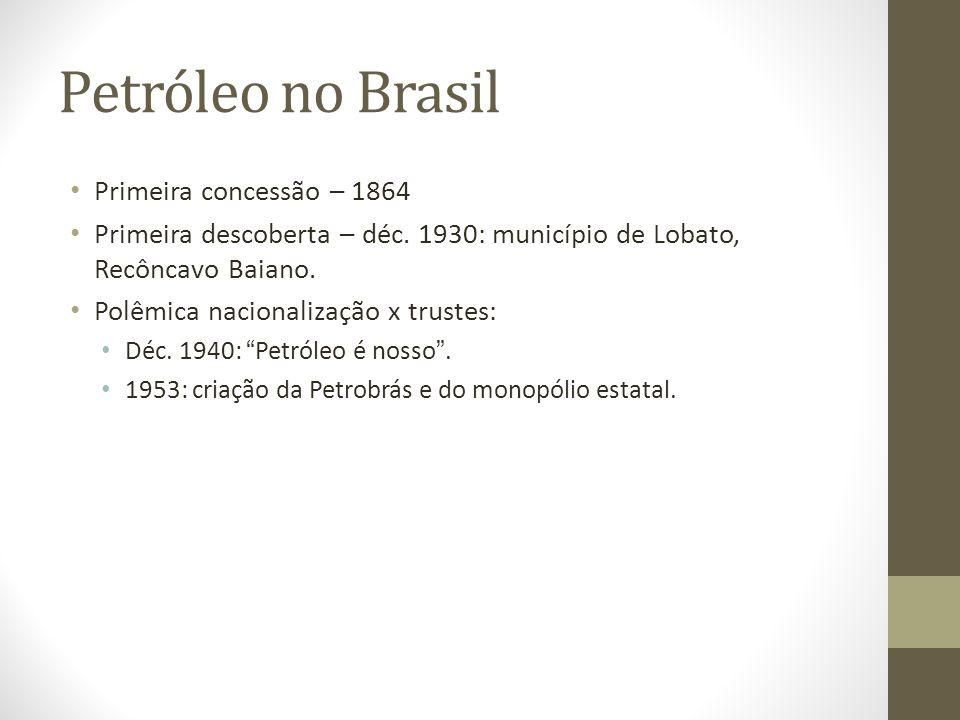 Petróleo no Brasil Primeira concessão – 1864