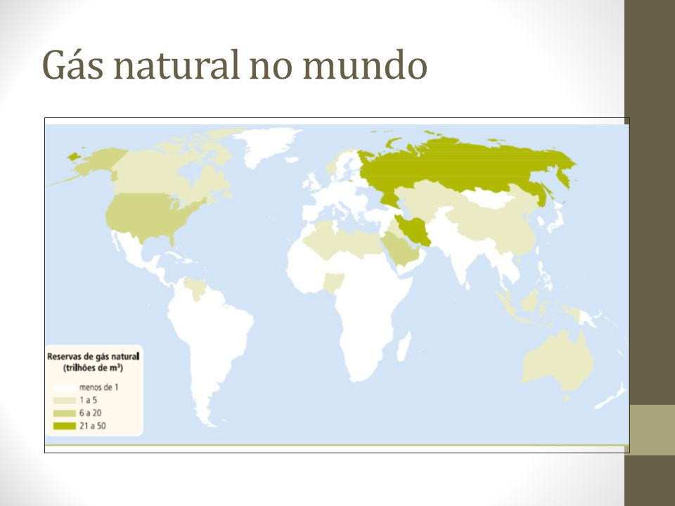 Gás natural no mundo