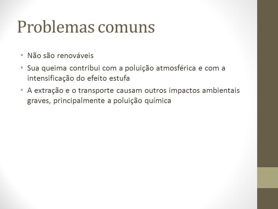 Problemas comuns Não são renováveis
