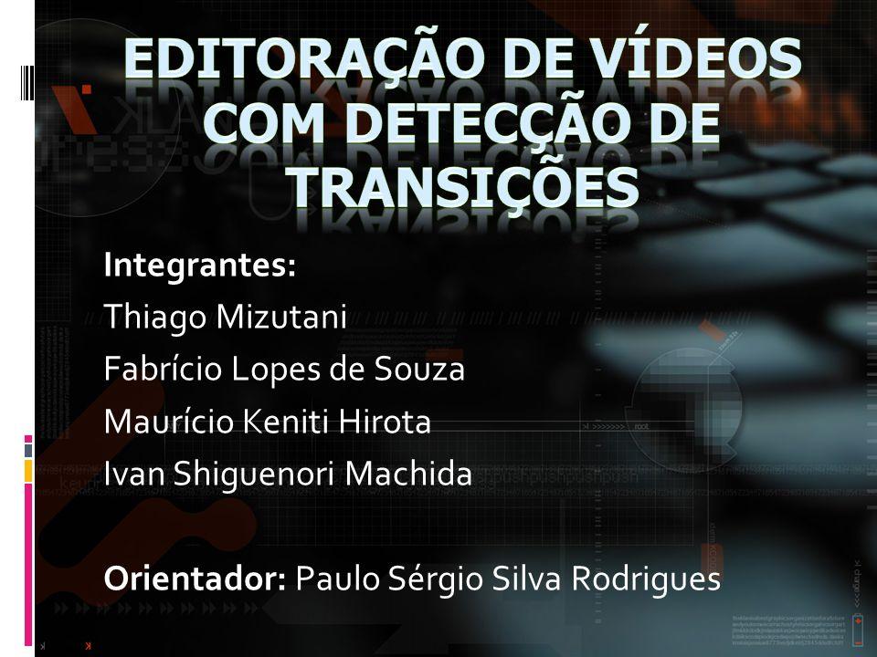 Editoração de vídeos COM DETECÇÃO DE TRANSIçÕES