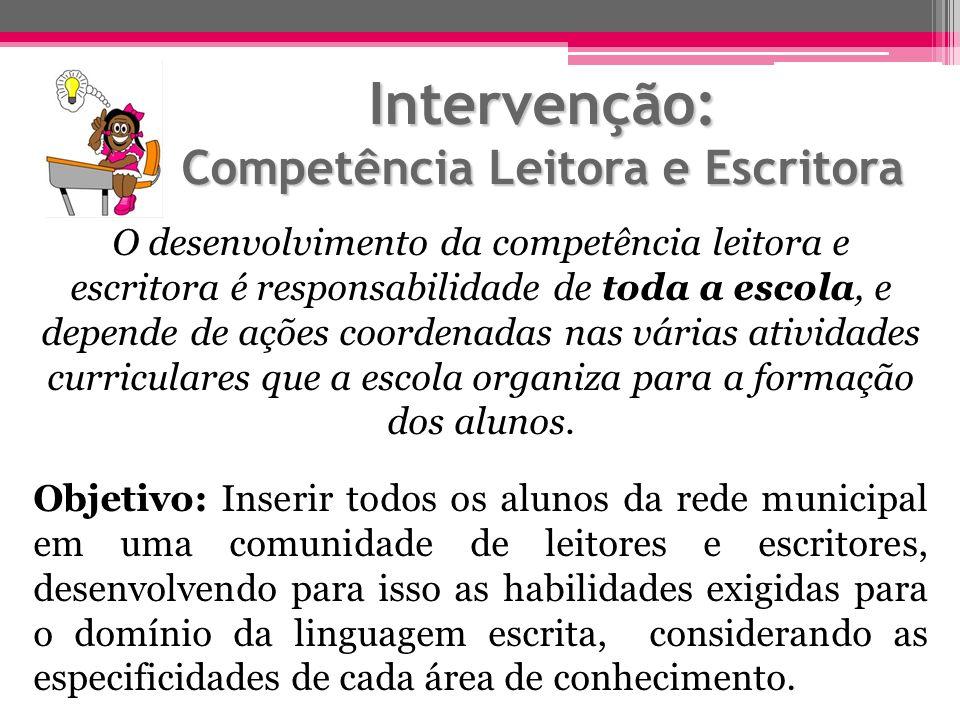 Intervenção: Competência Leitora e Escritora