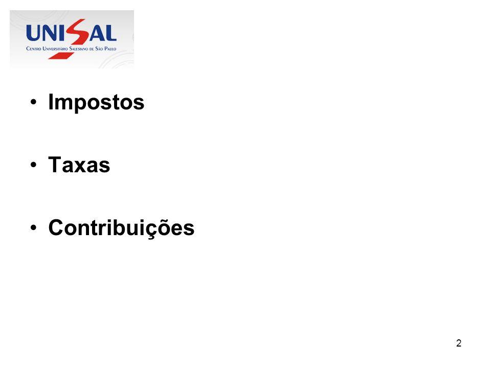 Impostos Taxas Contribuições
