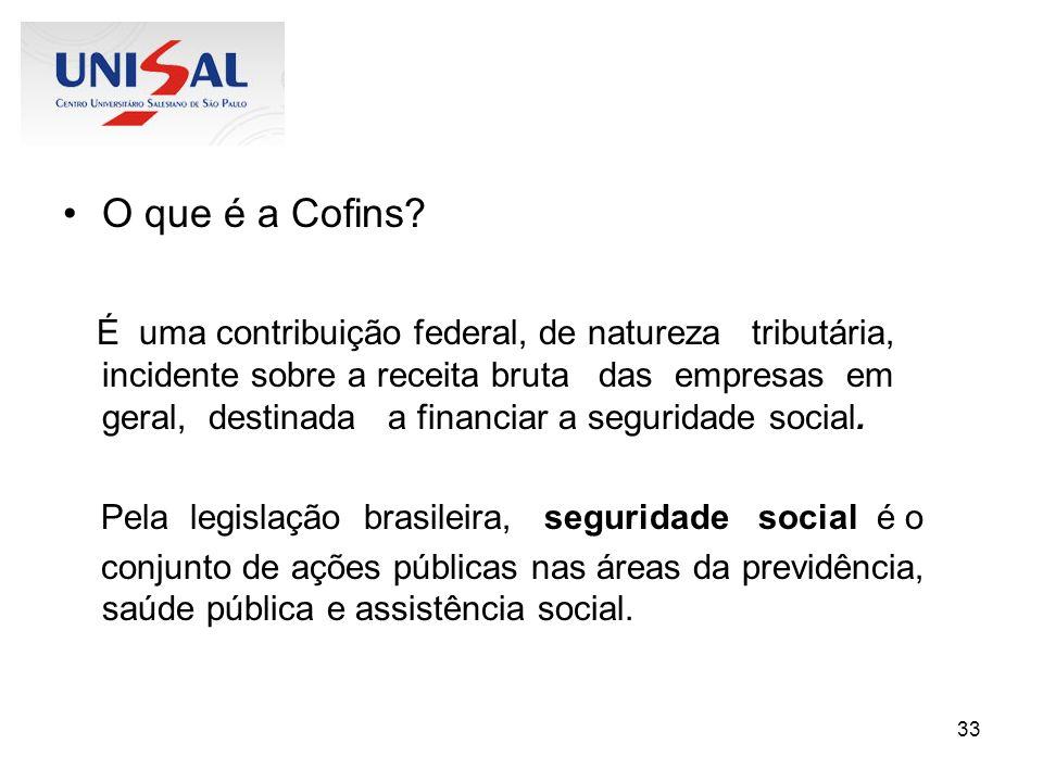 O que é a Cofins