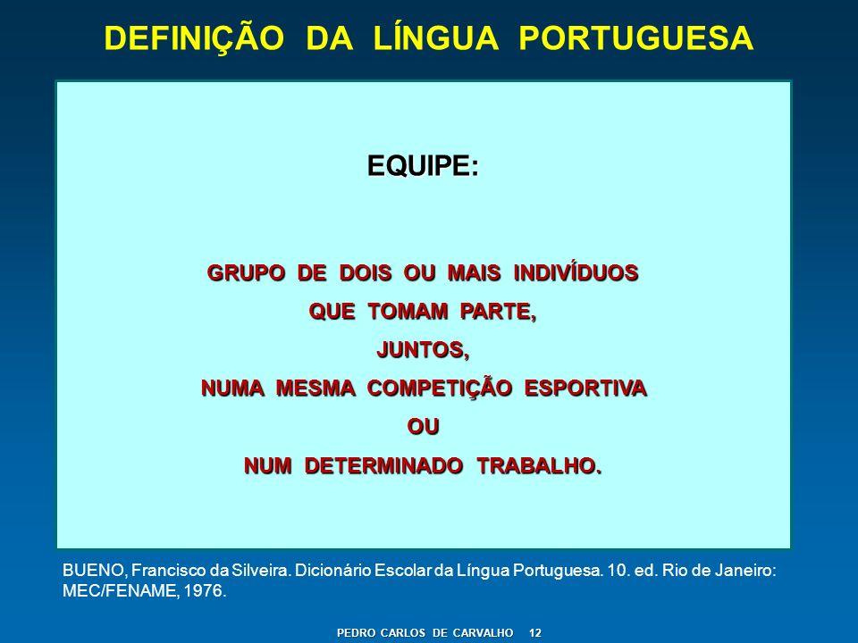 DEFINIÇÃO DA LÍNGUA PORTUGUESA