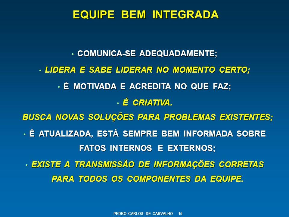 EQUIPE BEM INTEGRADA COMUNICA-SE ADEQUADAMENTE;