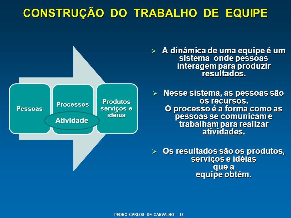 CONSTRUÇÃO DO TRABALHO DE EQUIPE