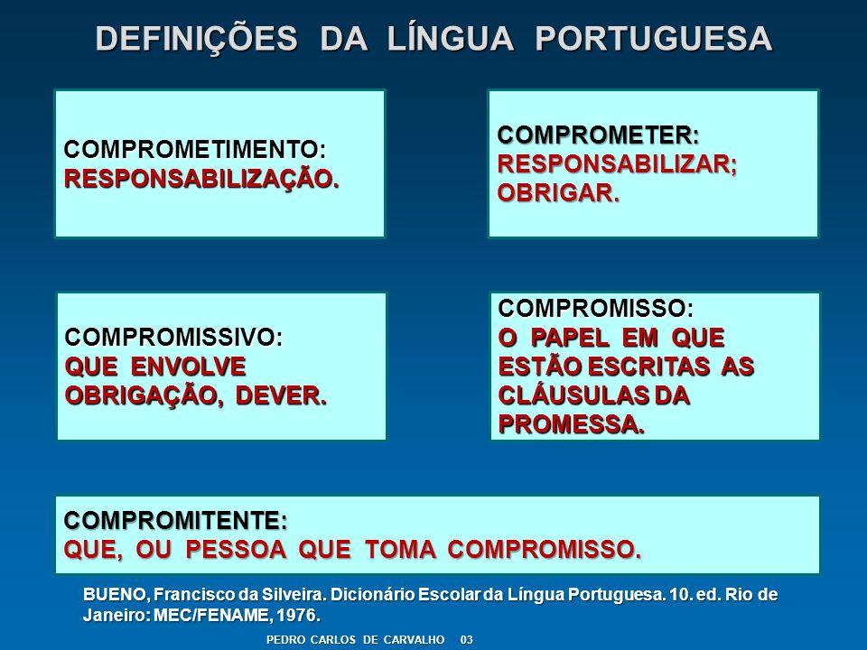 DEFINIÇÕES DA LÍNGUA PORTUGUESA