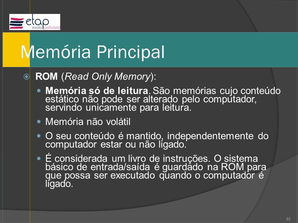 Memória Principal ROM (Read Only Memory):