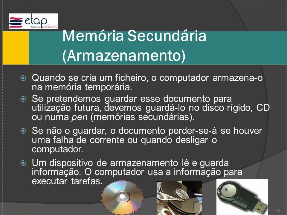 Memória Secundária (Armazenamento)